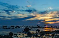 Zmierzch morze bałtyckie Obraz Royalty Free