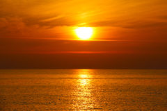 Zmierzch morzem Zdjęcia Stock