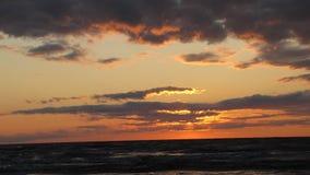 Zmierzch morzem Fotografia Stock