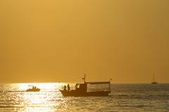 Zmierzch na Adriatyckim morzu Fotografia Stock