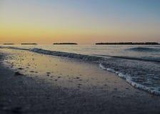 Zmierzch na Adriatyckim wybrzeżu Zdjęcia Royalty Free