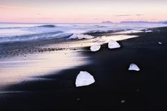 Zmierzch na atlantyckim wybrzeżu obraz stock