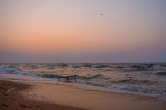Zmierzch na Azov morzu Zdjęcie Stock