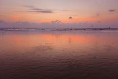 Zmierzch na Baga plaży. Goa Obraz Royalty Free