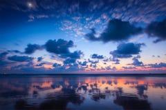 Zmierzch na Baga plaży. Goa Zdjęcia Stock