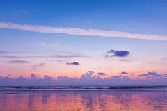 Zmierzch na Baga plaży goa Zdjęcie Stock