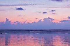 Zmierzch na Baga plaży goa Zdjęcie Royalty Free