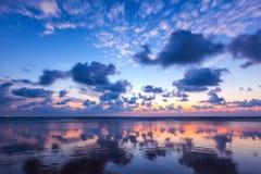 Zmierzch na Baga plaży goa Zdjęcia Royalty Free