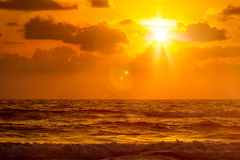 Zmierzch na Baga plaży goa Obraz Stock