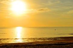 Zmierzch na Ben T Davis plaży w Floryda obraz royalty free