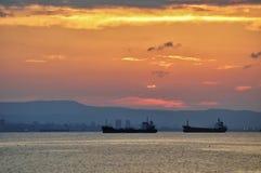 Zmierzch na Czarnym morzu zdjęcie stock