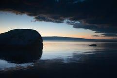 Zmierzch na Jeziornym Baikal, Irkutsk region, federacja rosyjska zdjęcie royalty free