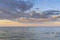 Zmierzch na Jeziornym Erie Obraz Royalty Free