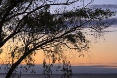 Zmierzch na Jeziornym Erie Obraz Stock