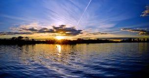 Zmierzch na Jeziornym Ontario Obrazy Royalty Free