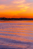 Zmierzch na Jeziornym Wausau zdjęcia stock