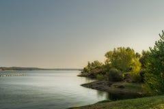 Zmierzch na jeziorze Fotografia Royalty Free