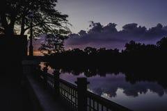 Zmierzch na lis rzece Obraz Royalty Free