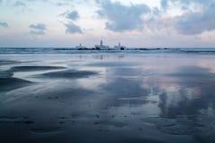 Zmierzch na losu angeles Laja plaży obrazy stock
