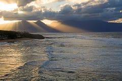 Zmierzch na Maui Obrazy Royalty Free