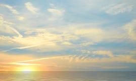 Zmierzch na morzu Zdjęcia Royalty Free