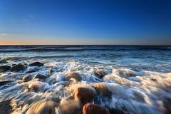 Zmierzch na morzu Obraz Stock