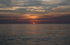 Zmierzch na morzu Fotografia Stock