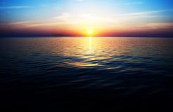 Zmierzch na morzu bałtyckim Fotografia Royalty Free