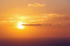 Zmierzch na morzu egejskim Zdjęcia Royalty Free