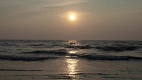 Zmierzch na Ocean Indyjski 4K zbiory wideo