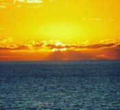 Zmierzch na oceanie Fotografia Stock