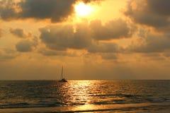 Zmierzch na oceanie Zmierzch na Ocean Indyjski Fotografia Stock