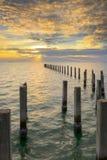 Zmierzch na plaży zdjęcie royalty free
