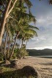Zmierzch na plaży Fotografia Stock
