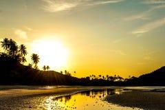 Zmierzch na plaży Zdjęcia Royalty Free