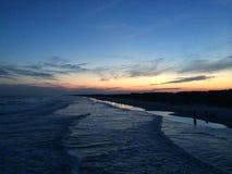 Zmierzch na plaży Obraz Stock