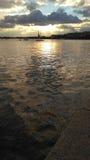 Zmierzch na river_3 Zdjęcie Royalty Free
