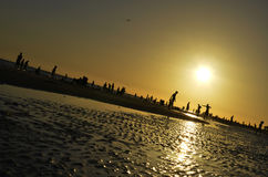Zmierzch na sjesty plaży obraz royalty free
