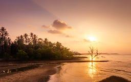 Zmierzch na th plaży Fotografia Stock