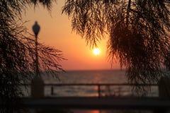 Zmierzch na wyspie Rhodes Fotografia Royalty Free