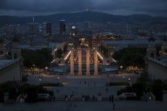 Zmierzch nad Barcelona Obrazy Stock
