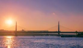 Zmierzch nad Bosporus Zdjęcia Royalty Free