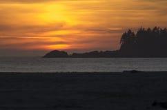 Zmierzch nad Chesterman plażą Zdjęcie Royalty Free