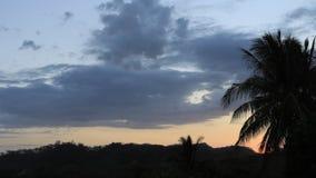 Zmierzch nad Costa Rica wzgórzami 4K zbiory wideo