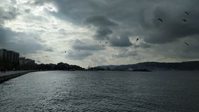 Zmierzch nad Dardanelles obrazy royalty free