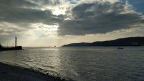 Zmierzch nad Dardanelles zdjęcie royalty free