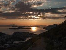 Zmierzch nad Dubrovnik Obrazy Royalty Free