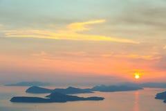 Zmierzch nad Dubrovnik Zdjęcia Royalty Free