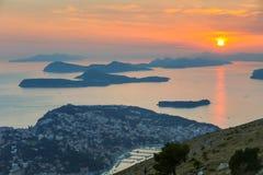 Zmierzch nad Dubrovnik Fotografia Stock
