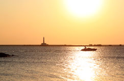 Zmierzch nad Ionian morzem, Gallipoli, Włochy Zdjęcie Stock